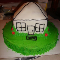 Habitat For Humanity House Dedication Cake this was for a new home dedication for habitat, such a wonderful organization and cant wait to work with them again! all vanilla cake with...