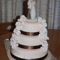 My First Wedding Cake All done in Fondant