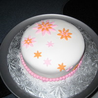 Simple And Pretty   Simple and Pretty Birthday Cake, Vanilla Rum Cake covered in Fondant.