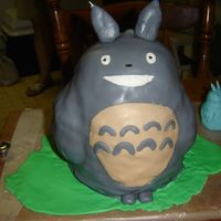 Totoro Fondant Cake So my two year old nephew is obsessed with Totoro. My brother-in-law enlisted my help with making a Totoro cake, and I had just began...