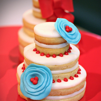Wedding Cake Cookies - Stacked