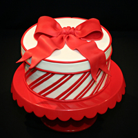 Candy Cane Striped Cake