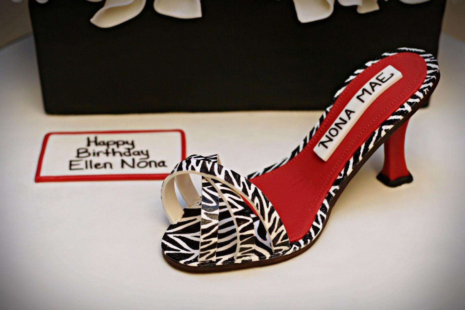 Zebra Shoe And Shoebox
