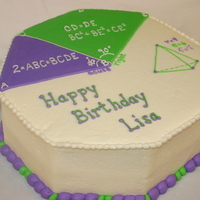 Math Cake Cake for a 4th/5th grade math teacher. Thanks for looking!