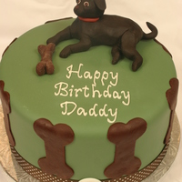 83Rd Birthday Cake For Dog Lover The client asked me to build a cake for her dad who has never been without a dog. The cake is covered with fondant. All other details are...