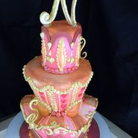 "Margaret Braun Wanna Be This cake only feeds abotu 15 people. The smallest tier is 3.5"" and 4"" tall. I love doing whimsical cakes like this. Margaret..."