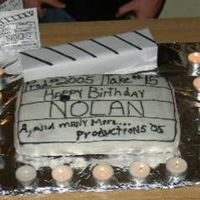 Nolan's 15Th B-Day Cake This is a clapboard cake I made for my son the aspiring movie maker.