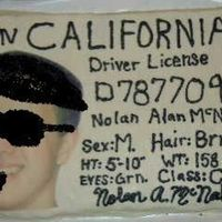 Nolan's 17Th B-Day Cake oops-i 1st uploaded the pic w/his face. This is a drivers license cake that I made for my son who got his license on his birthday.(the...
