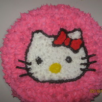 Hello Kitty Pound cake with colored buttercream icing....