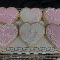 Valentine's Cookies Heavenly Sugar cookies with my favorite sugar cookie icing recipe. It's PS, karo, milk, almond..... Love it!