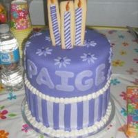 Paige's Purple Cake  This was for a friend's (and regular customer) daughters birthday. She left the design up to me but asked if I could include cookies...