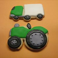 Truck And Tractor   NFSC with royal icing. TFL