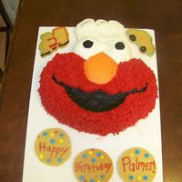Elmo B-Day Cake This was a present for my boss's son's 2nd b-day. I was going to do the whole pattern from the 2009 yearbook but after the dog...