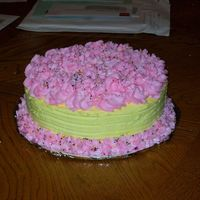 Birthday Cake made for my cousins 40th it was only the 2nd cake I decorated.