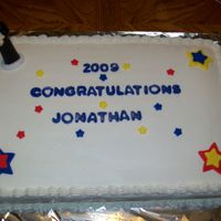 007.jpg 1st graduation cake. Thanks to everyones help, I finally got the icing smooth!!!!