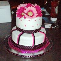 1St_2_Tier_Cake_2009_Bridal_Sh.jpg This was my 1st 2 tier cake.. My sister was having a bridal shower for a friend.. So I got to practice. They all loved it.