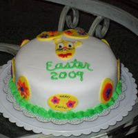 Easter 2009 1st cake with fondant icing