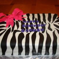 Zebra Birthday Buttercream with fondant accents.