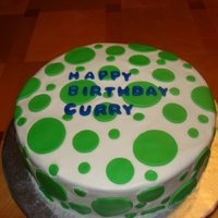 Polka Dot Birthday Buttercream with fondant accents