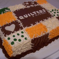 Quilters: A Musical  I made this cake for a artists' reception at a local theatre at which I volunteer. The show was Quilters: A Musical.This was the first...