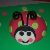 Ladybug Smash Cake This is the smash cake that went with our Ladybug Cake. It is white cake covered with strawberry MMF. The head is all fondant and we used...