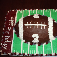 Alabama Football Cake All buttercream, chocolate cake.
