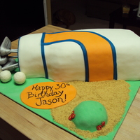 Golf Birthday Cake Client sent a photo of a cake she liked. This is how it turned out. I wish I knew who did the cake in the original photo so I could give...