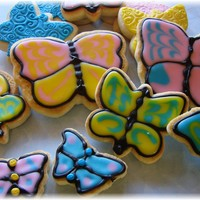 Butterfly Cookies I really wanted to try my hand at making decorated sugar cookies after looking at some beautiful cookies here on CC. Well, let me tell you...