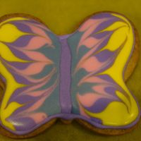 Butterflies NFSC with Antonia 74 Royal Icing. Just for fun. Playing with colors and consistency of RI. Tried applying with a bottle rather than a...