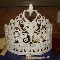 1St Tiara Attempt This is just a practice run at a tiara that I want to make for my daughter's birthday cake. I drew the tiara by hand and a friend of...