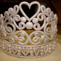 Tiara Tiara for my little girls princess birthday cake. This is my second tiara. Made this one out of gumpaste. My pattern was too intricate for...