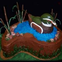Wood Duck Grooms Cake All modeled with chocolate clay Duck is a mixture of dark chocolate and rice krispies covered with chocolate clay