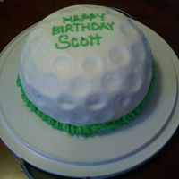 0514091932A.jpg Last minute cake for birthday! Chocolate WASC w/ Chocolate buttercream filling. Iced in buttercream. TFL