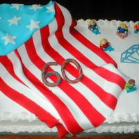4Th Of July Flag Cake This was for a 60th (diamond) anniversary & 4th of July party. All of the different branches of the family were wearing shirts from the...