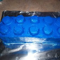 Lego Block  I made this cake for my sons 10th Birthday, he loved it! I made the nubs on top with mini cupcakes upside down,...they were kinda a pain to...