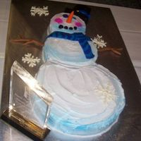 Snowman Cake  This is a cake I had made for a competiton, I was initially just going to go watch the other decorators I went with but My supervisor told...