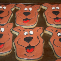 Scooby Doo Cookies vanilla sugar cookies with royal icing