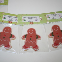 Gingerbread Boy Cookies sugar cookies covered and decorated with glace.
