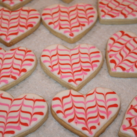Heart Cookies sugar cookies with royal icing