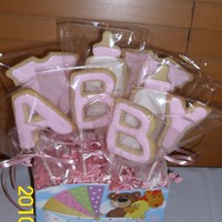 Lindsay's Baby Shower Cookies NFSC with Antonia74 icing.