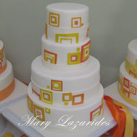 Retro Mod Wedding Cakes I made these cakes for my cousin's wedding. She got married in a modern art museum and wanted a modern, simple, fun design. There were...