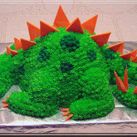 Dinosaur Cake This was a practice cake for one to be made for a client later on. The main body was made with a Wilton Wonder Mold and the head, neck,...