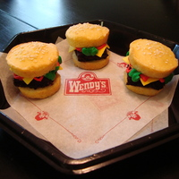 Mini Burger Cupcakes Got the idea from a fellow CC'er!Mini Wendy's burgers for a friends daughters 13th birthday. They were delivered along with real...
