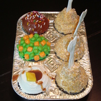 Tv Dinner Cupcakes TV dinner style cupcakes ... from Hello Cupcake!