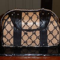 Gucci Handbag This was for a friend's 60th birthday... she's crazy about handbags! It's an 11 x 15 white cake, cut into thirds and iced/...