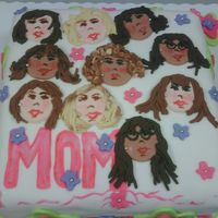 My Office Girlfriends I made this cake for a Mother's celebration at my Office and I put the face of every Mon in the Office. It made them laughed!