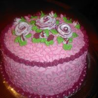 Sany0036.jpg Strawberry cake with strawberry frosting. ( only my second cake on my own at home)