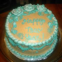 Sany0021.jpg Orange cake with Orange flavored cream cheese. (my second cake at home on my own, frosting was too soft! )