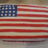 4Th Of July 9X13 cake with Fondant topping