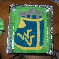 Willis's Birthday Cake  This was a cake that was for my step-dad. Thank you to all who made one like it and helped me. I only done my with the West Virginia logo...